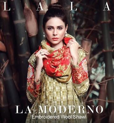 Lala-La-Moderno-winter-embroidered-khaddar-wool-shawl-dresses-collection-2016-1