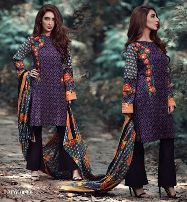 Lala-La-Moderno-winter-embroidered-khaddar-wool-shawl-dresses-collection-2016-3