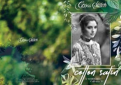 cross stitch winter unstitched cotton dresses Collection 2018-19-1