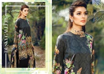 cross stitch winter unstitched cotton dresses Collection 2018-19-16