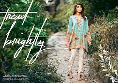 cross stitch winter unstitched cotton dresses Collection 2018-19-2