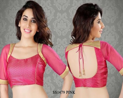 Indian-latest-brocade-blouse-designs-saree-2017-for-women-13