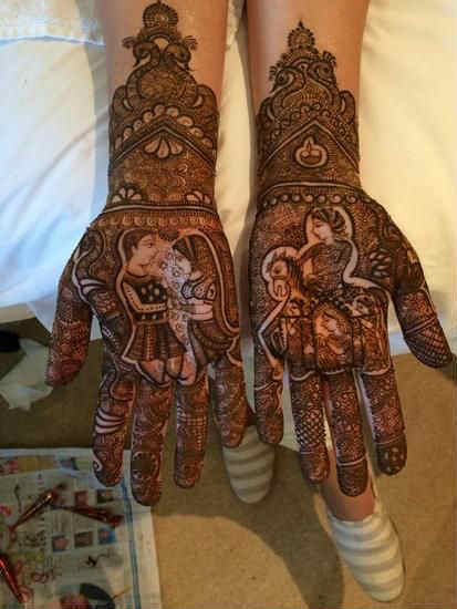 best-and-simple-Indian-bridal-mehndi-designs-for-hands-for-beginner-17