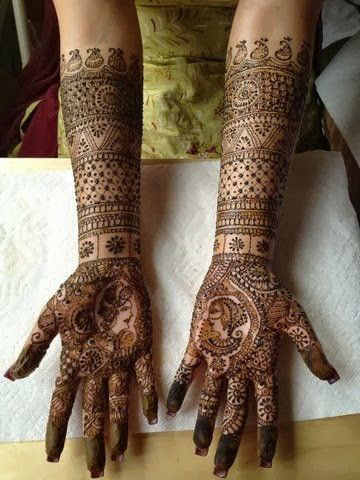 best-and-simple-Indian-bridal-mehndi-designs-for-hands-for-beginner-18