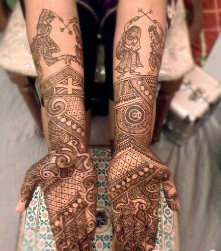 best-and-simple-Indian-bridal-mehndi-designs-for-hands-for-beginner-6