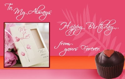 romantic birthday wishes for girlfriend