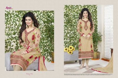 Indian-latest-embroidered-designs-chiffon-dresses-collection-2017-by-Aarohi-5