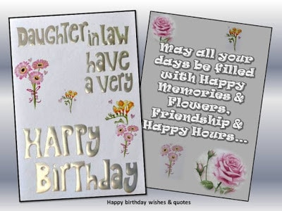 50 New Birthday Quotes Wishes For Daughter In Law With Images