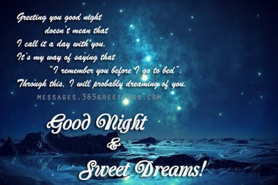 romantic good night messages for girlfriend in english