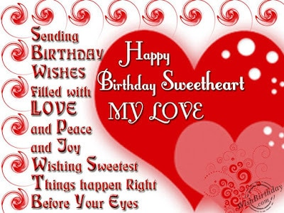 Romantic Happy Birthday Wishes For Wife With Images And Quotes