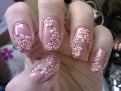 Stylish-and-Cute-Nail-Designs-with-Bows-and-Diamonds-for-Girls-19