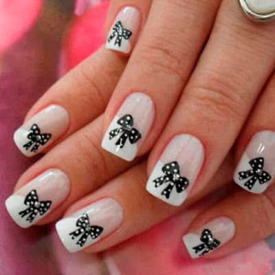 Stylish-and-Cute-Nail-Designs-with-Bows-and-Diamonds-for-Girls-9