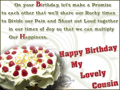 happy birthday wishes for a special cousin