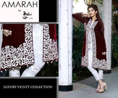 amarah-luxury-winter-velvet-dresses-collection-2017-by-sajh-dhaj-4