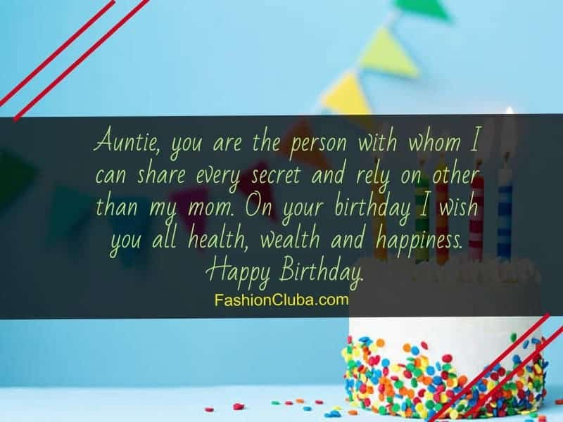 inspirational birthday wishes for aunt