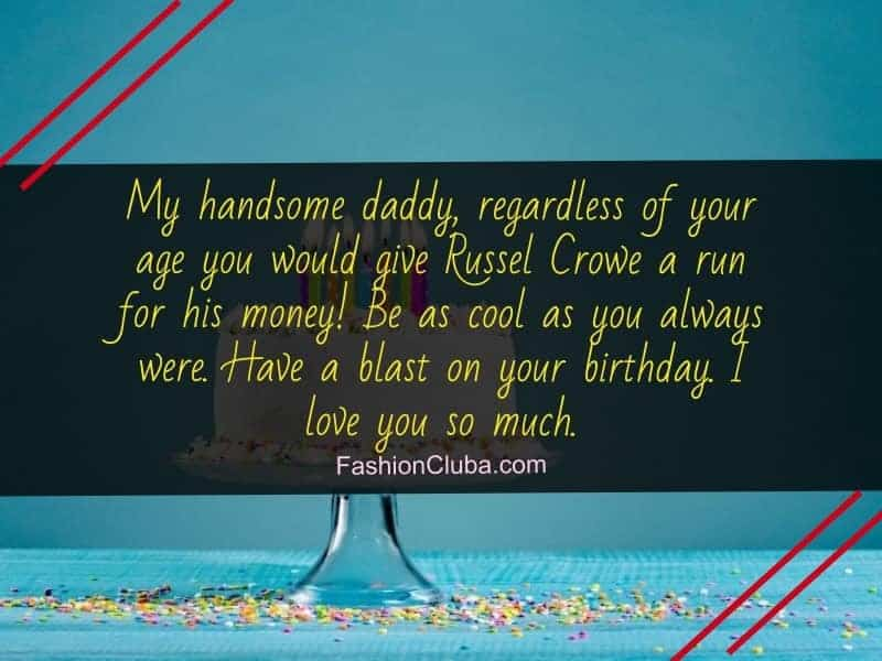 lovely birthday messages for dad from daughter