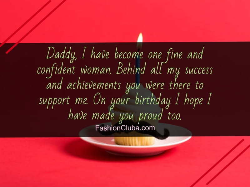 Inspirational Birthday Messages For Dad From Daughter