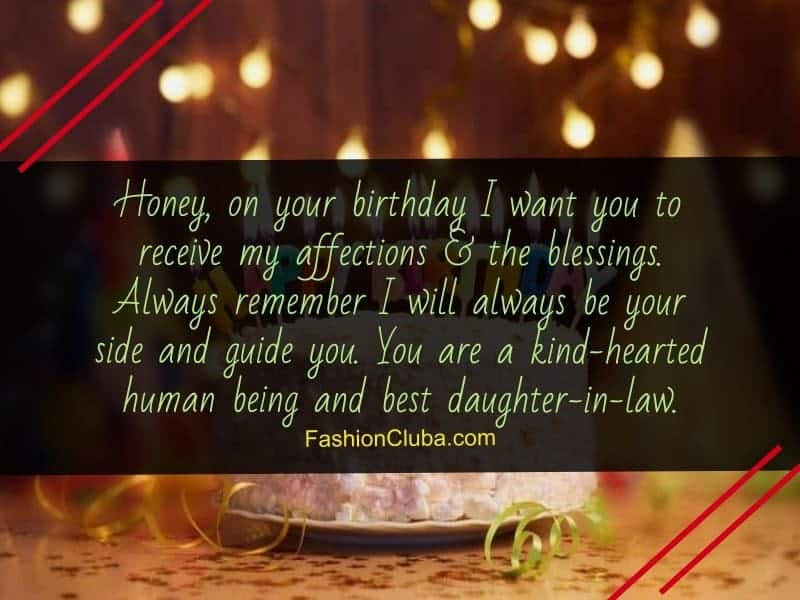 sweet birthday messages for daughter-in-law