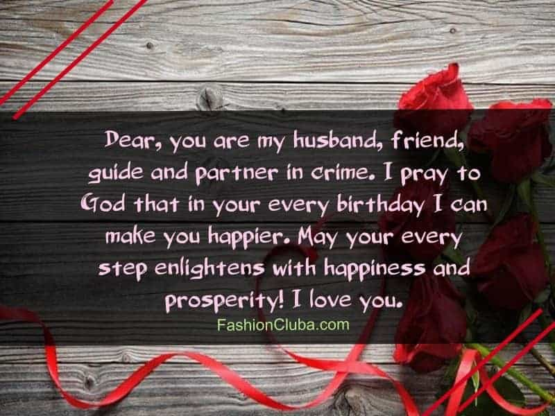 special birthday wishes for husband from wife