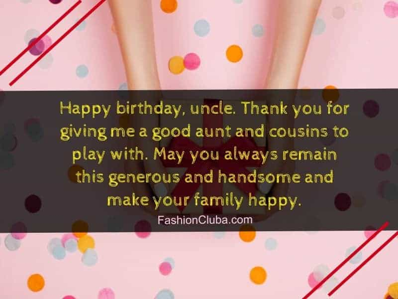 lovely birthday wishes for uncle
