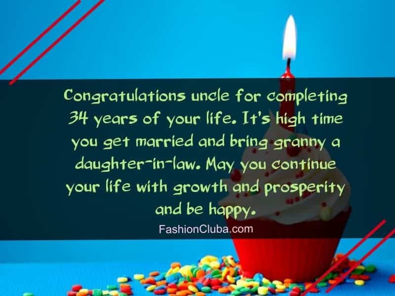 cute wishes about birthday of uncle