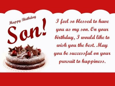 happy birthday messages to son from mother