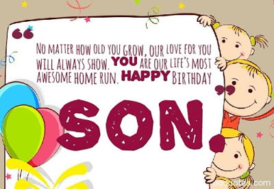 Quotes For A Son From His Mother On Birthday
