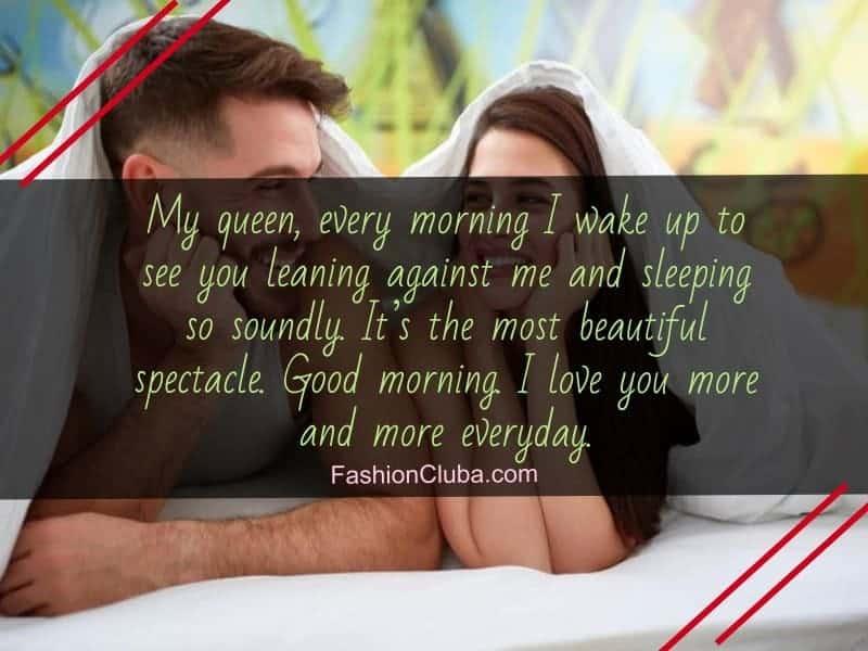 lovely good morning wishes for lover