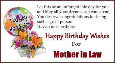 happy birthday to my mother in law message