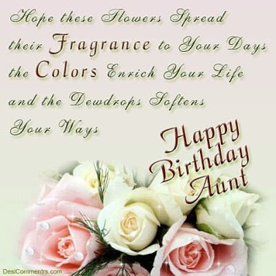 happy birthday wishes aunty quotes