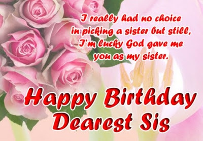 happy birthday wishes on facebook wall for sister