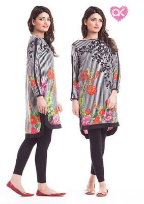 Alkaram kurti design 2017 for ladies