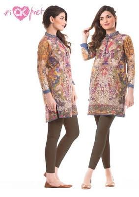 Alkaram simple cotton kurti designs