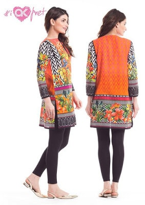 Alkaram digital kurti Designs 2018 for girls