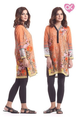 Alkaram kurti designs catalogue