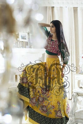 Amna Ajmal bridal wear & groom Dresses 2018 collection (8)