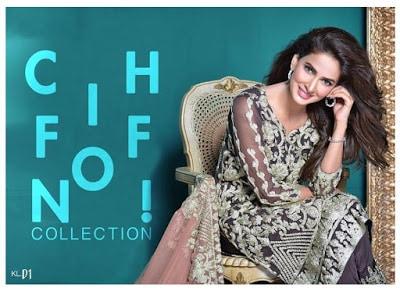 Kalyan Pure Chiffon Dresses Collection 2018 by ZS Textile