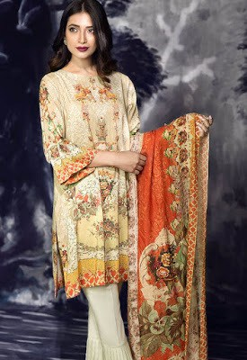 cross stitch winter linen khaddar dresses Collection 2018 (9)