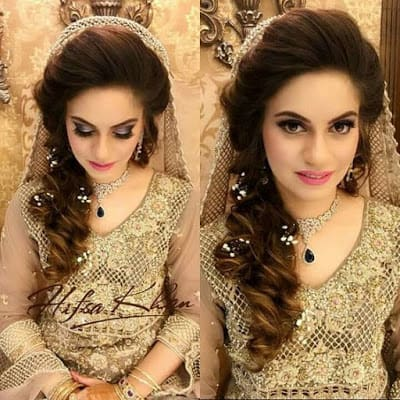 Stylish And Trendy Pakistani Bridal Wedding Hairstyles For Your