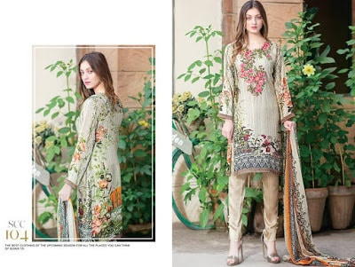 Shaista silk pakistani Dresses 2018