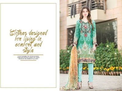 Shaista silk dress with embroidered flowers