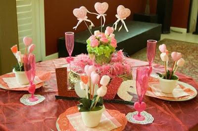 valentine's day lovely centerpieces for home ideas