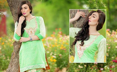 pakistani lawn suits with chiffon dupatta by Jubilee Textiles