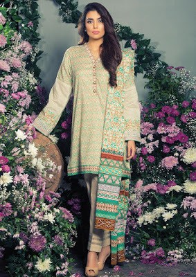 Akaram colorful summer dresses lawn designs for women
