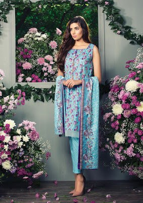 Alkaram latest lawn dresses stitching Designs 2018