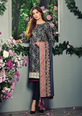 Alkaram summer lawn prints 2017 dresses with full sleeves