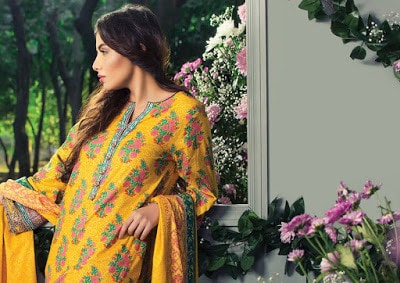 Alkaram womens casual summer lawn print Dresses 2018 with price