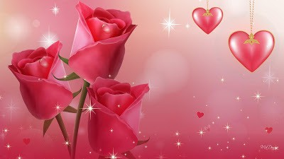 Animated Beautiful Valentines Day Flowers Wallpapers