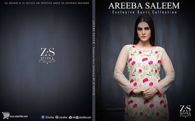 Areeba Saleem kurti Collection 2018 by zs textiles