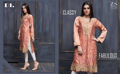 Areeba Saleem kurti Collection 2018 for girls by zs textiles